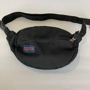 JANSPORT • black nylon crossbody fanny pack